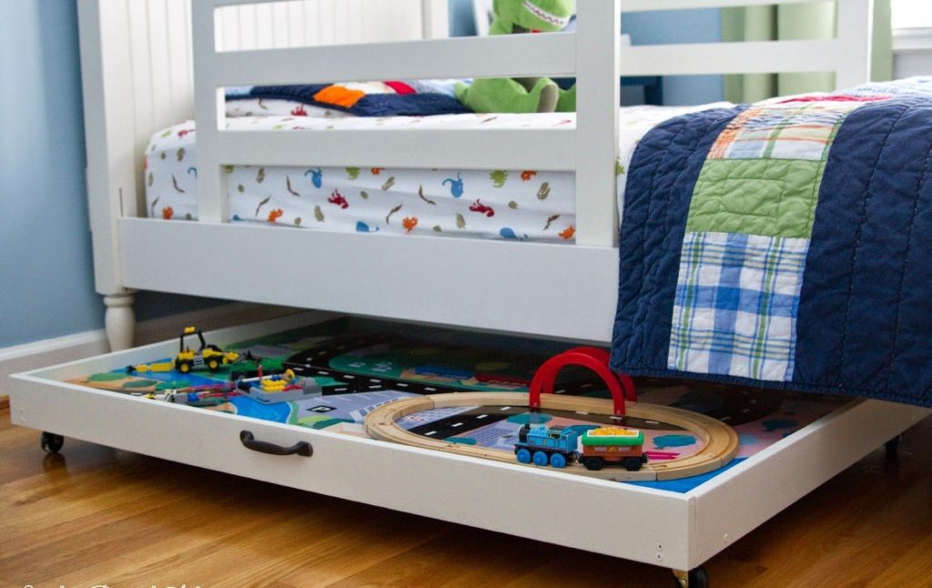 Penyimpanan Mainan Dibawah Tempat Tidur